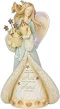 "Enesco Heart of Christmas Seaside Angel, 6003906, Stone Resin, Multicolor, 8.07"""