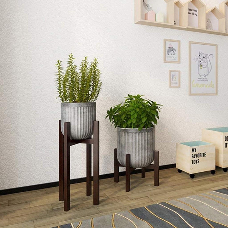 WAN SAN QIAN- Solid Wood Flower Stand Floor Flower Pot Shelf Simple Living Room Balcony Plant Display Rack Flower racks (color   B, Size   32  60CM)