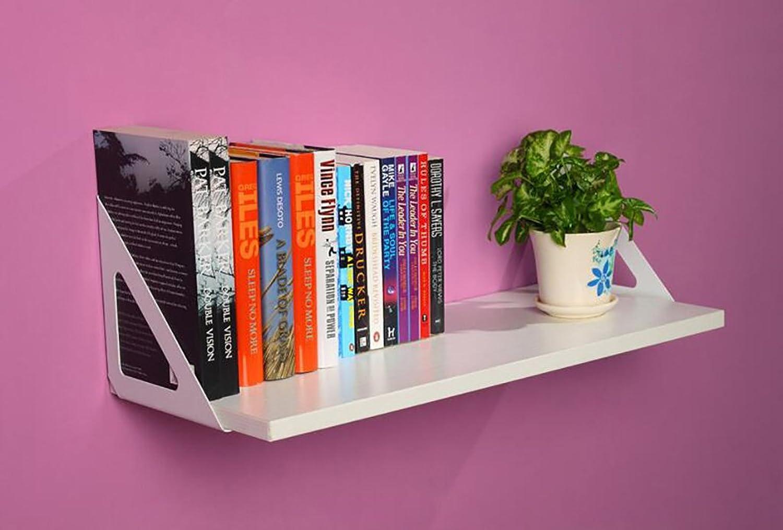Decorative Accessories Wall Shelf Simple Bookshelf TV Wall Decorative Wall Floating Shelves (color   B, Size   60CM)