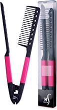 Herstyler Straightening Comb For Hair, Flat Iron Comb For Great Tresses, Hair Straightener Comb With A Firm Grip, Straightener Comb For Knotty Hair, Styling Comb For Unkempt Hair, Get wooed (Pink)