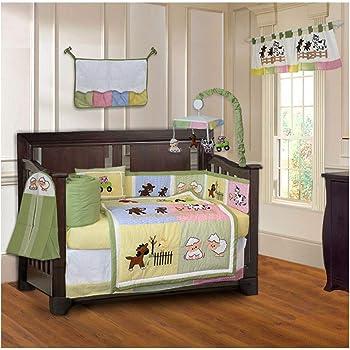 BabyFad Barnyard 10 Piece Baby Crib Bedding Set