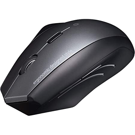 サンワサプライ Bluetoothマウス エルゴマウス形状 腱鞘炎防止 ブルーLED 5ボタン 大型 MA-ERGBT15