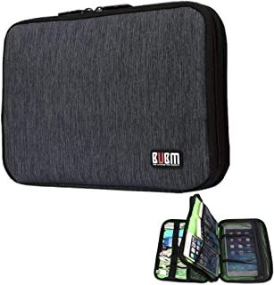 Portable Cable Organizer Travel Case, Universal Electronics Accessories Organizer Bag, Wire Management Pouch, Travel Gear Organizer for Cord, USB, Phone, ipad Mini, Charger, Office Gadgets