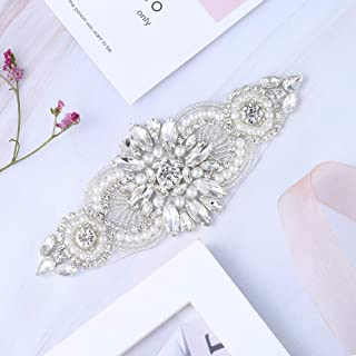 Bridal Wedding Apliques Sewn Iron on Rhinestone Belts Sashes Sparkle Thin lightweight for DIY Women Dress Clothing Headbands Headpieces Garters Tiaras Veils Hats Shoes Bags - Silver