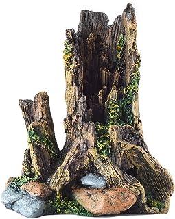 爬虫類アクO水槽装飾樹脂シンク木材シミュレーション木の頭爬虫類用品水族館造園木魚シェルター庭造園アリウム樹脂流木 ウェットシェルター テラリウム登り木 あく抜き済み 枝