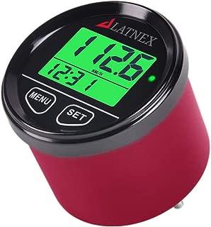 LATNEX GPS Speedometer Odometer Waterproof with Green/Red/Blue Digital Display Backlight. Universal Suitable ATV-UTV-Marine-Boats-Motorcycle-Automobile-Motor Vehicles-Bikes-Golf Carts (Red)