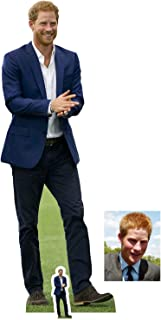 Fan Pack - Prince Harry in Blue Suit Lifesize and Mini Cardboard Cutout / Standup - Includes 8x10 Star Photo