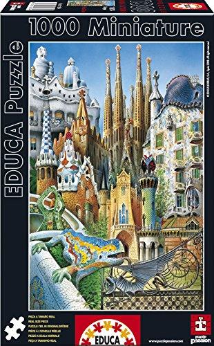 Educa- Serie Miniature Puzzle 1.000 Piezas, Collage Obras de Arte Gaudí (11874)