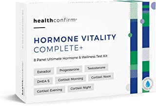 HealthConfirm Hormone Vitality Complete, Full Day Hormone Balance Saliva Collection Test Kit (8 Panel)