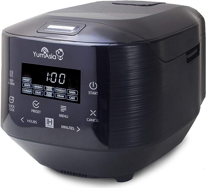 Cuociriso yum asia con riscaldamento a induzione (ih) e ciotola in ceramica 7 funzioni di cottura del riso B0849QTT66
