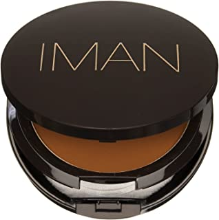 IMAN Cosmetics Luxury Pressed Powder, Dark Skin, Earth Dark