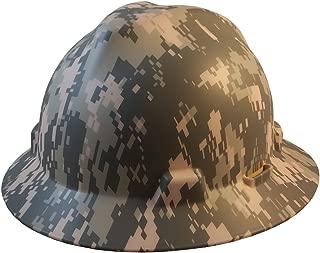 MSA Full Brim Patriotic Hard Hat w/ ACU Camouflage Pattern - Fas_Trac III Suspension