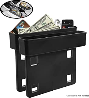Between Car Seat Gap Filler Organizer, DELFINO 2 Pack Side Of Center Console Storage Box For Money, CellPhone, Coins and K...