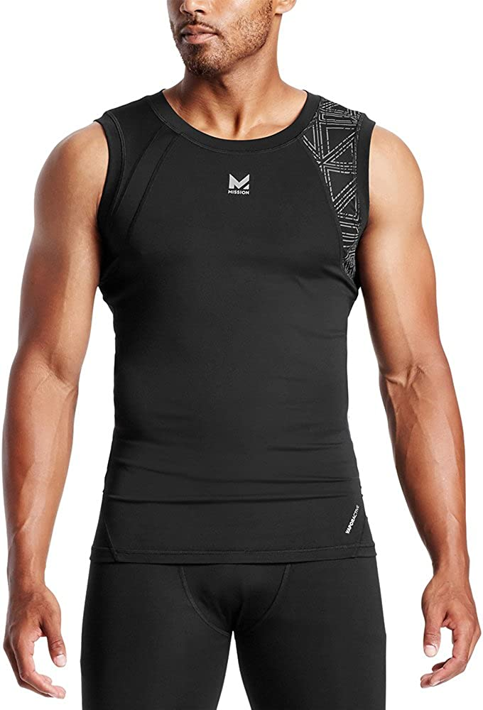 MISSION Men's Sleeveless Shirt Compression Save Free shipping anywhere in the nation money