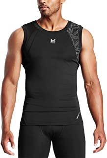 Mission X Wade Collection Men's Sleeveless Compression Shirt, Flash Black, Medium