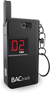 BACtrack Keychain Breathalyzer (Black)   Ultra-Portable Alcohol Tester for Personal Use