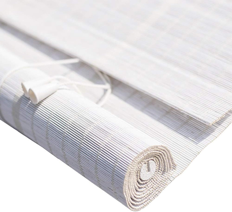 seguro de calidad Persianas enrollables de de de bambú para Cortinas enrollables para Ventanas y Puertas, persianas enrollables de filtrado de luz de bambú blancoo con Tirador Lateral ZHANGAIZHEN  n ° 1 en línea