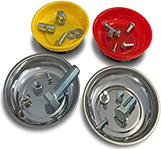 OCM 4 Pack Magnetic Parts Tray Set, Includes 2 Stainless...