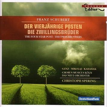 Schubert, F.: Vierjahrige Posten (Der) / Zwillingsbruder (Die) [Opera]