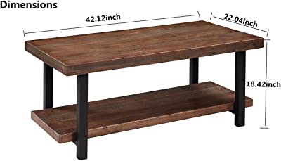 Surprising Amazon Com Loon Peak Somers 42 Wood Metal Coffee Table Ibusinesslaw Wood Chair Design Ideas Ibusinesslaworg