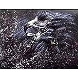 JHGJHK Arte de Talla águila Pintura al óleo Arte de Pared sin Marco...