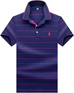 Dri-Fit Golf Shirts for Men Moisture Wicking Short-Sleeve Polo Shirt