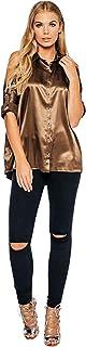 Diva London Shirt Neck Blouse For Women