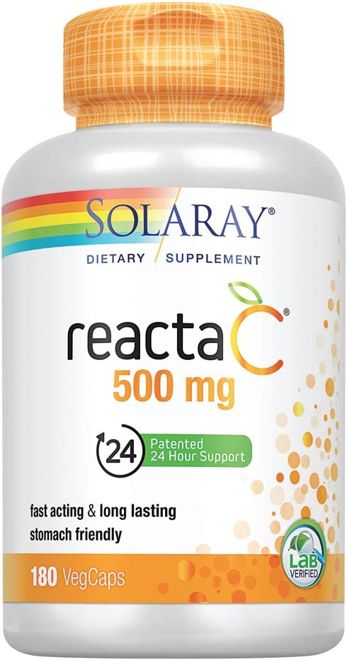 Solaray Reacta Max 45% OFF C with Bioflav online shop Vitamin 500 Capsules mg 180 Cou