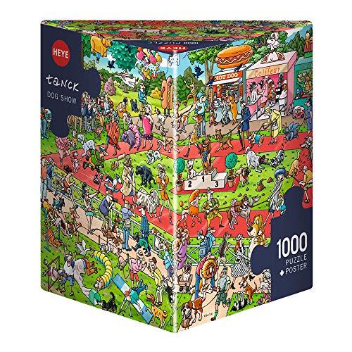 HEYE 29788 - Dog Show Triangular, Birgit Tankc, inklusiv Poster, 1000 Teile Puzzle