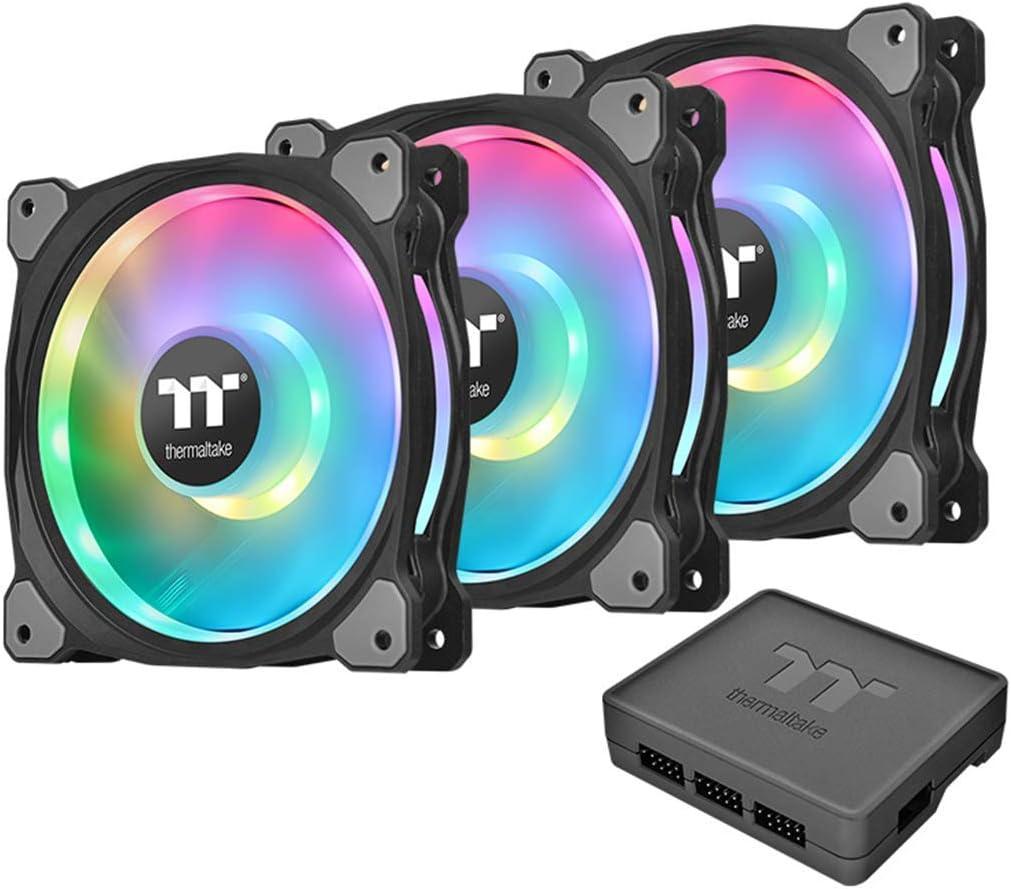 Thermaltake Riing Duo 12 RGB Radiator Fan 3 Pack Dual Riing/Paquete de 3 Ventiladores para PC