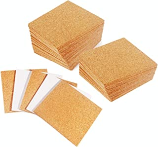 30 Pack Self-Adhesive Cork Squares 4 x 4 Inch Mini Backing Cork Tiles Sheets for Coasters and DIY Crafts