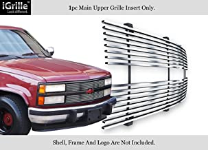 APS Compatible with 88-93 Chevy C K Pickup Suburban Blazer Stainless Steel Chrome Billet Grille C85001S
