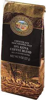 Royal Kona 10% Kona Coffee Blend, Chocolate Macadamia Flavor - Ground Coffee 8 Ounce