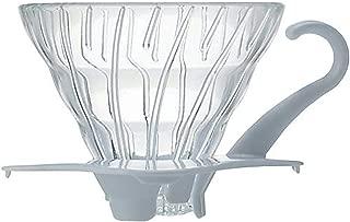 Hario V60 Glass Coffee Dripper, Size 01, White