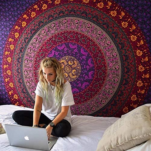 shenlanyu Tapiz Indio Mandala Tapestry Pared Colgante Sandy Beach Lanzar Rug Manta Camping Tienda de Viaje Colchón Bohemio Sleeping Pad Tapiz 210cmX150cm 11
