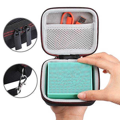 LuckyNV harde schaal Travel Eva rits gevallen met nettas voor JBL Go Bluetooth draadloze luidspreker voor lader kabel riem handtas