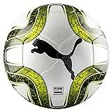 PUMA FINAL 3 Tournament (FIFA Quality) Fußball, White-Lemon Tonic Black, 5