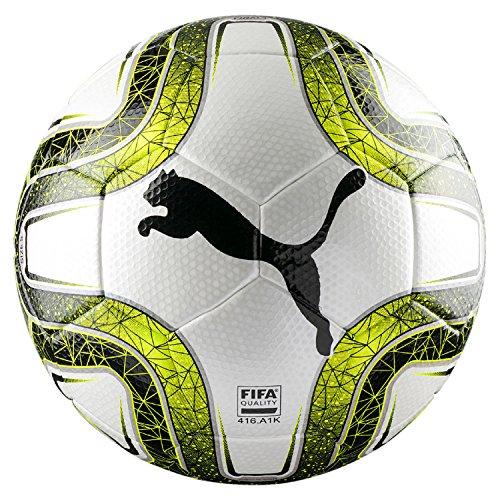 PUMA FINAL 3 Tournament (jakość FIFA) piłka nożna, biała cytryna tonic Black, 5
