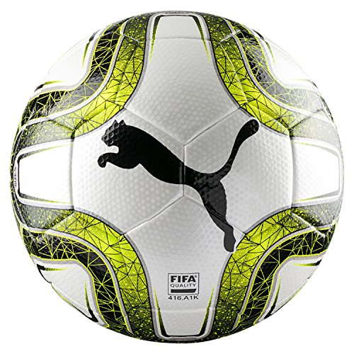 PUMA Final 3 Tournament FIFA Quality, Pallone da Calcio Unisex-Adulto, White/Lemon Tonic/Black, 4