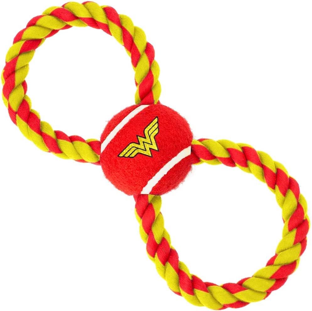 Buckle-Down Very popular Dog Toy Rope Tennis Fashionable Ball Wonder Logo Red Woman Yello