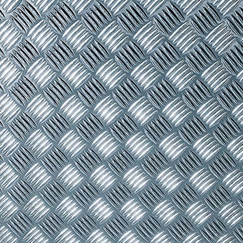 15,21€/m² Möbelfolie d-c-fix Chrom Metallic Riffelblech silber hochglanz Folie 90cm Breite Laufmeterware Plotter-folie Glanz