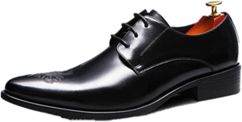 HAPPYSHOP (TM Brittisk stil stil stil Män läder skor Oxfords Derbies Lace -ups Bröllopsskor Svarta  bästsäljare