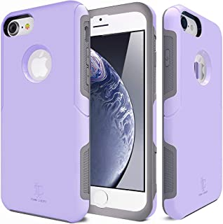 TEAM LUXURY [Defense-x Series Case for iPhone 7 & 8, [Shock Absorbent] Premium Protective Phone Case (4.7 Inch) - Purple
