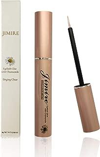 JIMIRE Eyelash Glue Clear   Secure Hold for False Eyelashes   Latex-Free Eyelash Adhesive with Chamomile Suitable for Sensitive Eyes