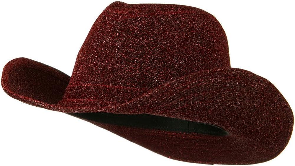 Phoenix Mall Glitter Cowboy Hat Red Oklahoma City Mall - W19S33C