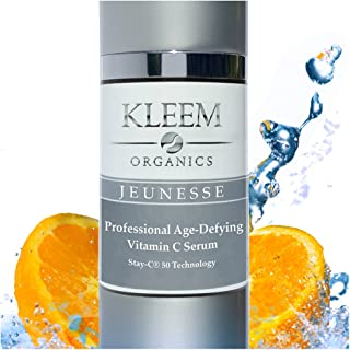 NEW ORGANIC Vitamin C Serum for Face with 25% Vitamin C, 10% Hyaluronic Acid & Vitamin E Oil, that Helps Fade Age Spots, Clear Adult Acne & Get Rid of Wrinkles for a Glowing & Younger Looking Skin
