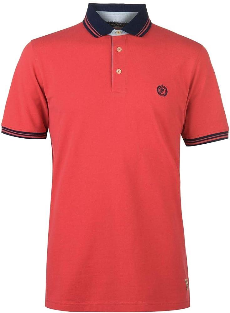 Pierre cardin, polo da uomo, t-shirt maniche corte, 100% cotone