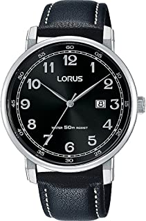 RH927JX9 - Lorus Classic Men's, Quartz, 50m Water Resistant, Silver and Black