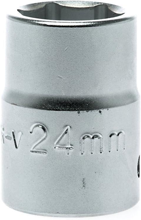 Teng 保障 祝日 M340524-6 Satin Regular Hexagon Socket 24mm 4in Square Dr 3