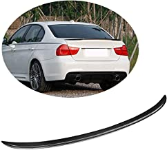 MCARCAR KIT Trunk Spoiler fits BMW 3 Series E90 325I 328I 330I 335I M Sport M3 Sedan 2005-2012 Factory Outlet Carbon Fiber CF Rear Boot Lid Highkick Spoiler Wing Lip